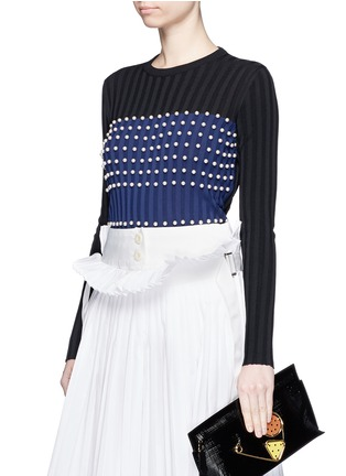 Front View - Click To Enlarge - Emilio Pucci - Pearl embellished sweater