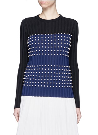Main View - Click To Enlarge - Emilio Pucci - Pearl embellished sweater