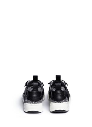 Back View - Click To Enlarge - Reebok - 'FuryLite Winter' leather trim herringbone sneakers
