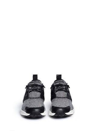 Front View - Click To Enlarge - Reebok - 'FuryLite Winter' leather trim herringbone sneakers