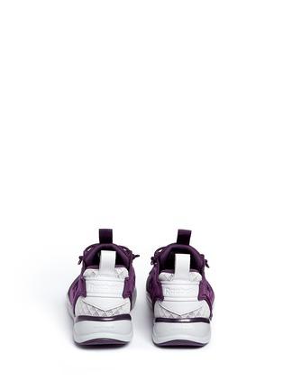 Back View - Click To Enlarge - Reebok - 'FuryLite Sheer' open mesh sneakers
