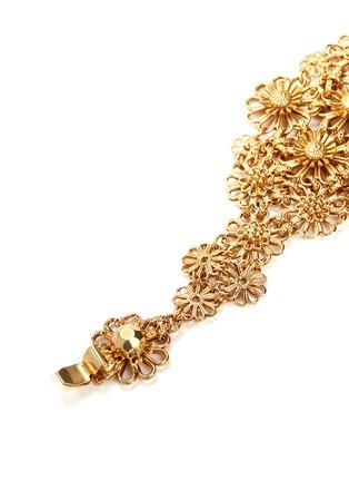 Detail View - Click To Enlarge - Miriam Haskell - Filigree flower bracelet