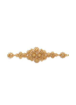 Main View - Click To Enlarge - Miriam Haskell - Filigree flower bracelet