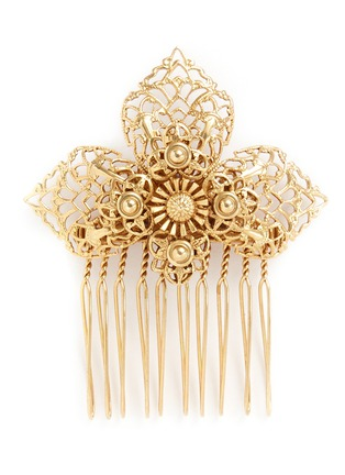 Main View - Click To Enlarge - Miriam Haskell - Filigree flower hair comb