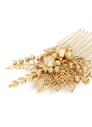 Detail View - Click To Enlarge - MIRIAM HASKELL - Leaf filigree hair comb