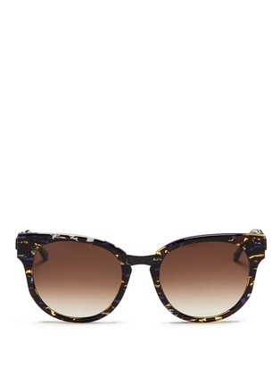 Main View - Click To Enlarge - Thierry Lasry - 'Affinity' tortoiseshell effect acetate matte metal sunglasses