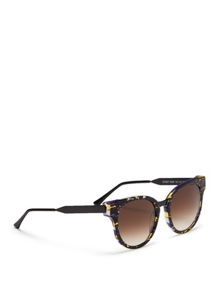 Figure View - Click To Enlarge - Thierry Lasry - 'Affinity' tortoiseshell effect acetate matte metal sunglasses