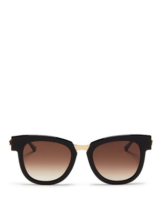 Main View - Click To Enlarge - Thierry Lasry - 'Mondanity' square acetate metal template sunglasses