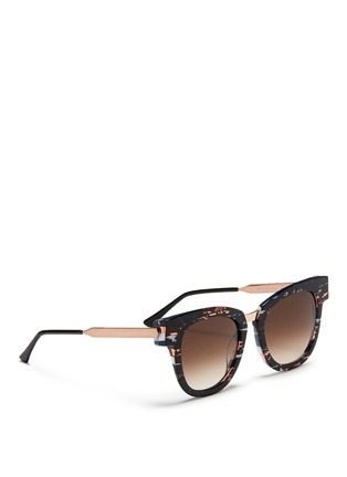 Figure View - Click To Enlarge - THIERRY LASRY - 'Mondanity' tortoiseshell effect acetate metal temple sunglasses