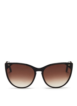 Main View - Click To Enlarge - Thierry Lasry - 'Swappy' slim cat eye acetate sunglasses