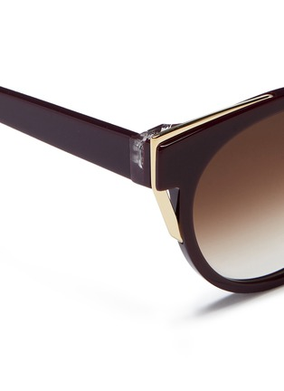 Detail View - Click To Enlarge - Thierry Lasry - 'Monogamy' metal corner acetate sunglasses