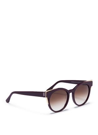 Figure View - Click To Enlarge - Thierry Lasry - 'Monogamy' metal corner acetate sunglasses
