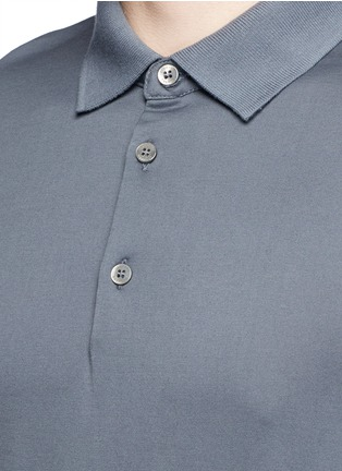 Detail View - Click To Enlarge - DANWARD - Cotton jersey polo shirt