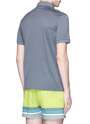 Back View - Click To Enlarge - DANWARD - Cotton jersey polo shirt