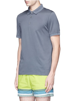 Front View - Click To Enlarge - DANWARD - Cotton jersey polo shirt