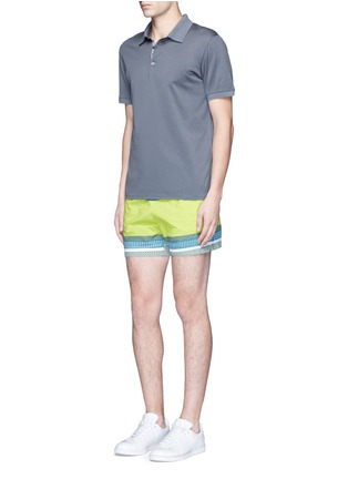 Figure View - Click To Enlarge - DANWARD - Cotton jersey polo shirt
