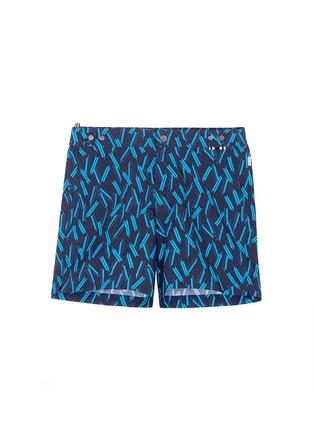 Main View - Click To Enlarge - DANWARD - Mid length arrow print swim shorts