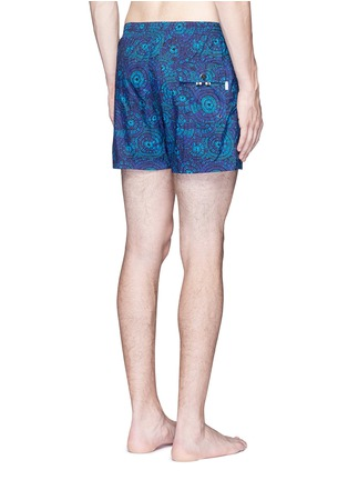 Back View - Click To Enlarge - DANWARD - Mid length floral print swim shorts