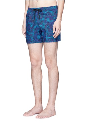 Figure View - Click To Enlarge - DANWARD - Mid length floral print swim shorts