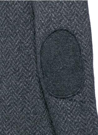 Detail View - Click To Enlarge - ISAIA - Herringbone wool sweater