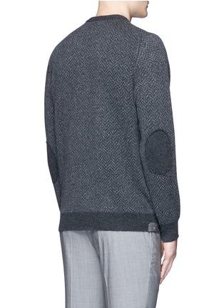 Back View - Click To Enlarge - ISAIA - Herringbone wool sweater