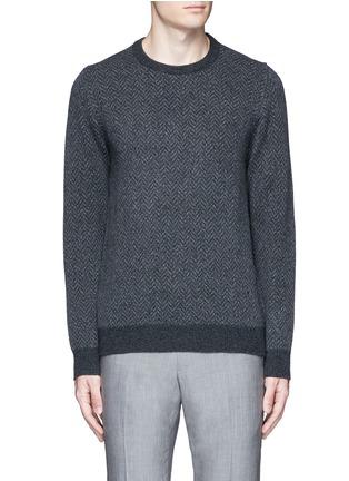 Main View - Click To Enlarge - ISAIA - Herringbone wool sweater