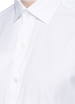 Detail View - Click To Enlarge - ISAIA - 'Parma' stretch cotton shirt