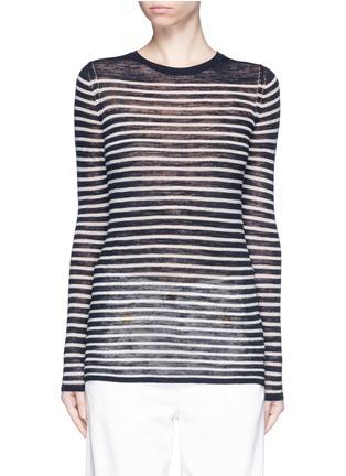 Main View - Click To Enlarge - Isabel Marant Étoile - Stripe linen-blend knit sweater