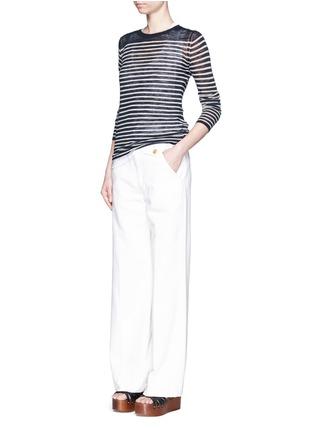 Figure View - Click To Enlarge - Isabel Marant Étoile - Stripe linen-blend knit sweater