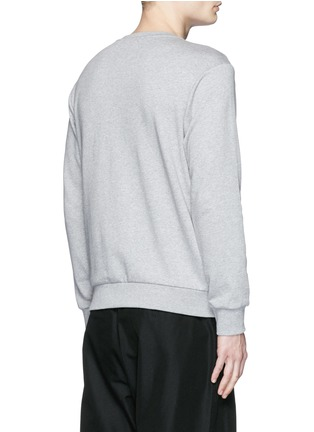 Back View - Click To Enlarge - Palm Angels - Metallic flag embroidery sweatshirt