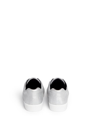 Back View - Click To Enlarge - 3.1 PHILLIP LIM - 'Morgan' metallic leather low top sneakers