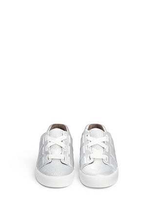 Front View - Click To Enlarge - 3.1 PHILLIP LIM - 'Morgan' metallic leather low top sneakers