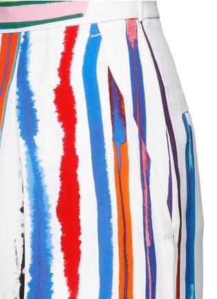 Detail View - Click To Enlarge - Emilio Pucci - Watercolour stripe print crepe pants