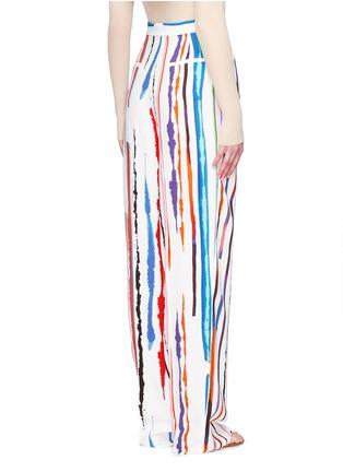 Back View - Click To Enlarge - Emilio Pucci - Watercolour stripe print crepe pants