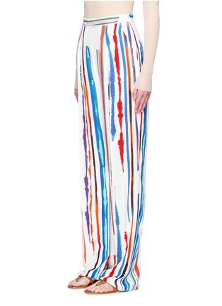 Front View - Click To Enlarge - Emilio Pucci - Watercolour stripe print crepe pants