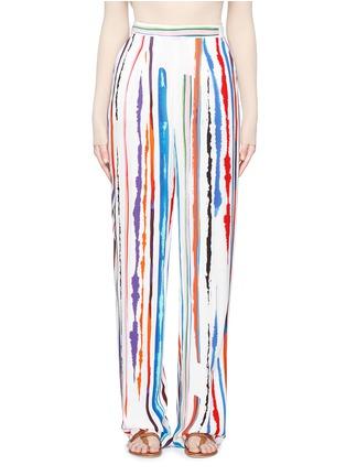 Main View - Click To Enlarge - Emilio Pucci - Watercolour stripe print crepe pants