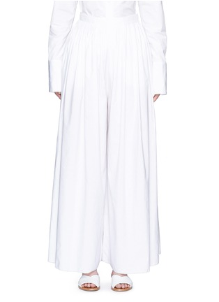 Main View - Click To Enlarge - The Row - 'Vopa' sea island cotton-linen pants