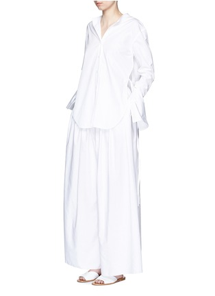 Figure View - Click To Enlarge - The Row - 'Vopa' sea island cotton-linen pants