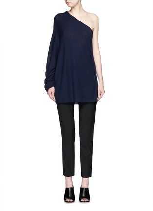 Figure View - Click To Enlarge - The Row - 'Shelda' one-shoulder cashmere-silk sweater