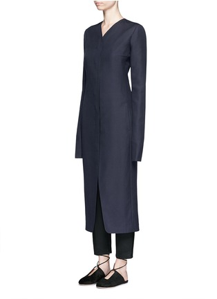 Front View - Click To Enlarge - The Row - 'Meghan' shell button silk canvas coat