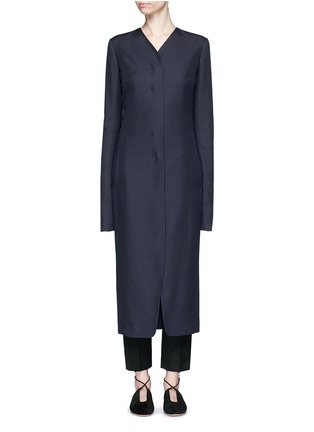 Main View - Click To Enlarge - The Row - 'Meghan' shell button silk canvas coat