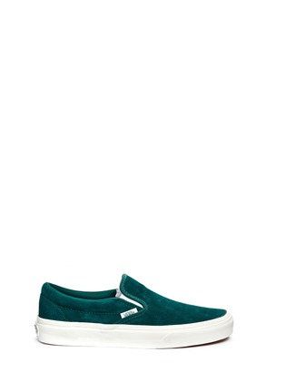 Main View - Click To Enlarge - Vans - 'Classic' suede slip-ons