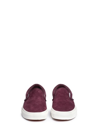 Front View - Click To Enlarge - Vans - 'Classic' suede slip-ons