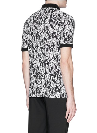 Back View - Click To Enlarge - - - Floral garland print polo shirt