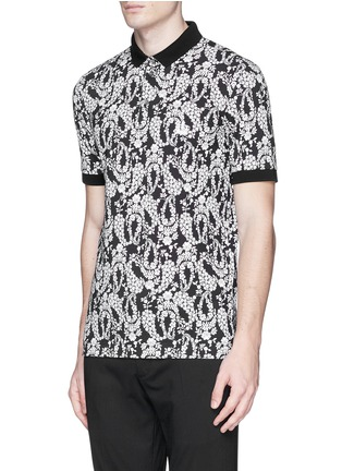 Front View - Click To Enlarge - - - Floral garland print polo shirt