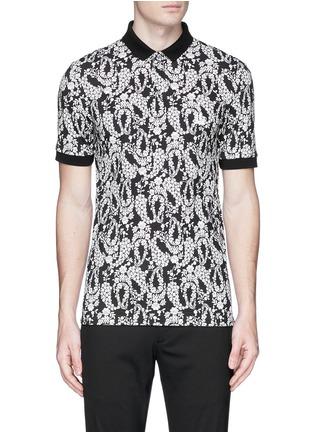 Main View - Click To Enlarge - - - Floral garland print polo shirt
