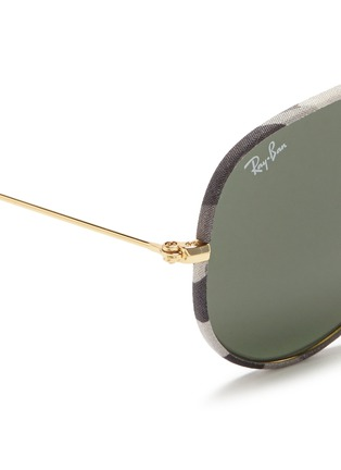 Detail View - Click To Enlarge - RAY-BAN - 'Aviator Camouflage' fabric rim wire sunglasses