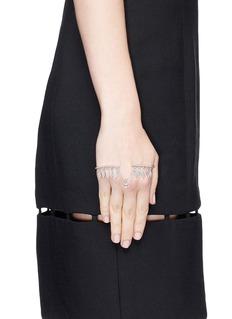 GAYDAMAK 'Kreol' 18k white gold diamond hand bracelet