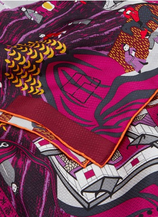 Detail View - Click To Enlarge - SHANG XIA - WUTAI MOUNTAIN PAINTING PRINT SILK SCARF