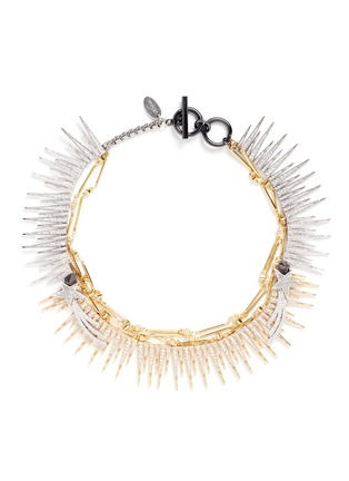 Main View - Click To Enlarge - Venna - Strass pavé fringe star chain necklace